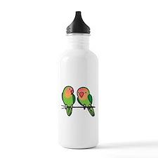 Peach-Faced Lovebirds Water Bottle