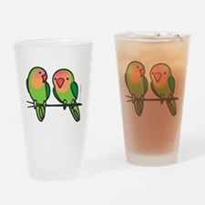 Peach-Faced Lovebirds Drinking Glass