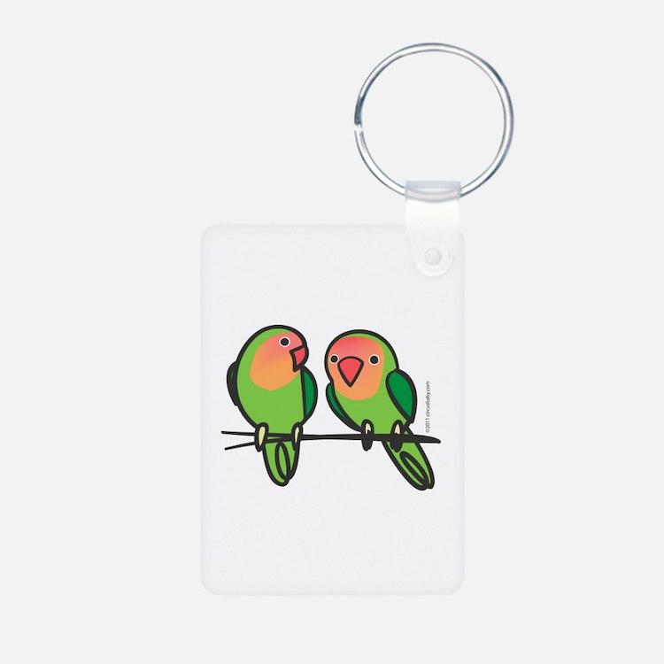 Peach-Faced Lovebirds Keychains