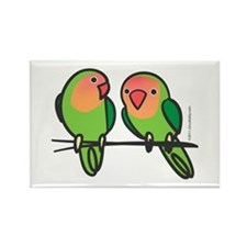 Peach-Faced Lovebirds Rectangle Magnet
