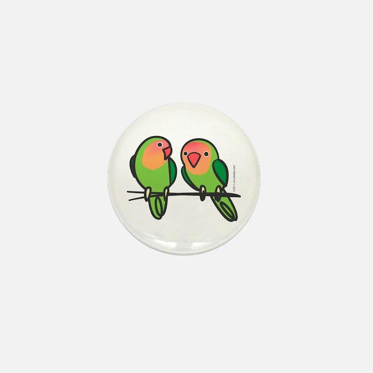 Peach-Faced Lovebirds Mini Button