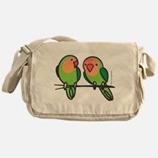 Peach-Faced Lovebirds Messenger Bag
