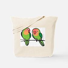 Peach-Faced Lovebirds Tote Bag