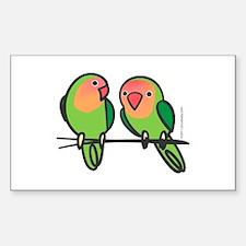 Peach-Faced Lovebirds Decal