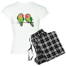 Peach-Faced Lovebirds Pajamas