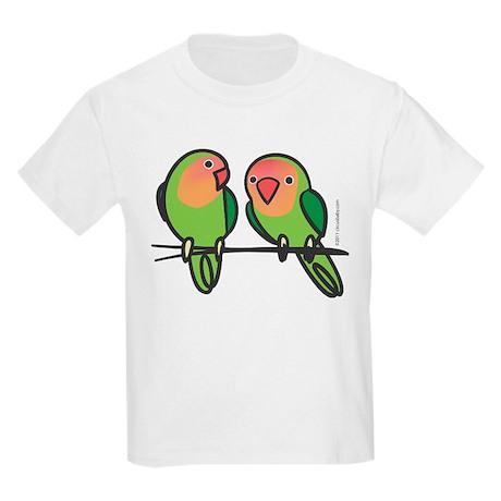 Peach-Faced Lovebirds Kids Light T-Shirt