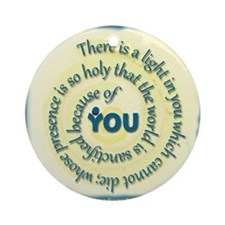 ACIM-A Light in You Ornament (Round)