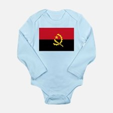 Cute Angolan flag Long Sleeve Infant Bodysuit