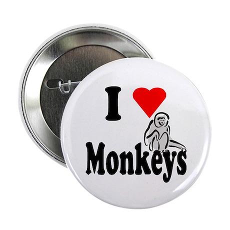 """I Heart Monkeys 2.25"""" Button"""