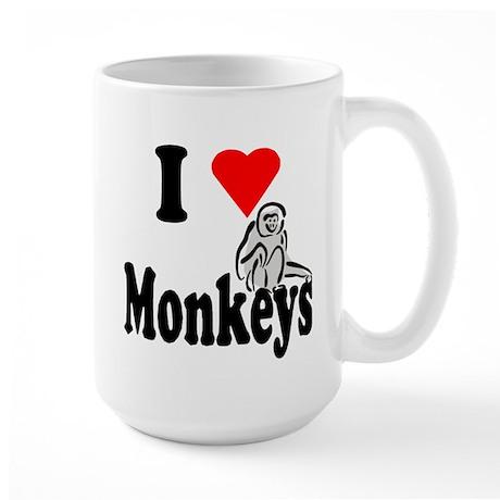 I Heart Monkeys Large Mug