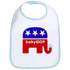 Boys babyGOP logo bib