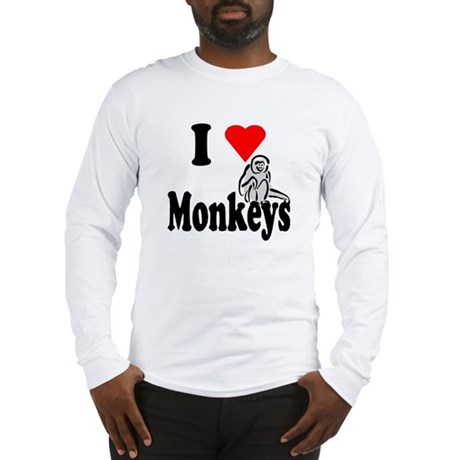 I Heart Monkeys Long Sleeve T-Shirt