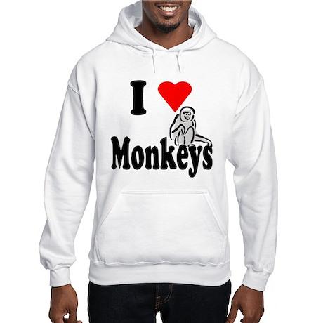 I Heart Monkeys Hooded Sweatshirt