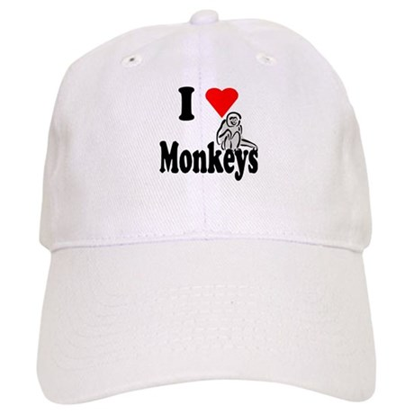 I Heart Monkeys Cap