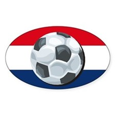 Dutch Soccer Oval Decal