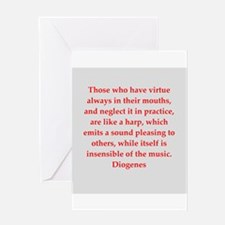 Wisdon of Diogenes Greeting Card