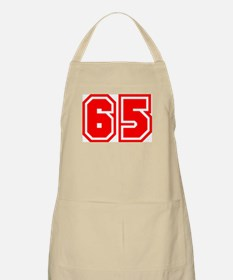 Varsity Uniform Number 65 (Red) BBQ Apron