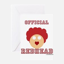 Official Redhead Greeting Card