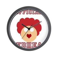 Official Redhead Wall Clock