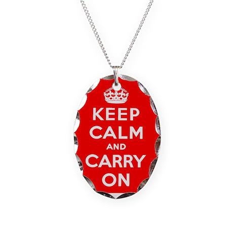 KEEP CALM Necklace Oval Charm