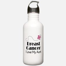 Breast Cancer Love My Aunt Water Bottle