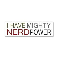 MIGHTY NERD POWER Car Magnet 10 x 3