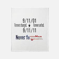 9-11 / United Never Forgotten Throw Blanket