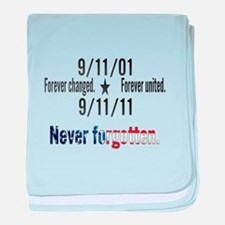 9-11 / United Never Forgotten baby blanket