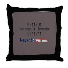 9-11 / United Never Forgotten Throw Pillow