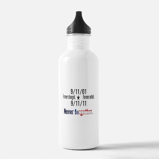 9-11 / United Never Forgotten Water Bottle