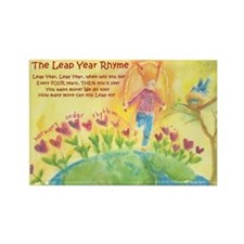Leap Year Rhyme Rectangle Magnet