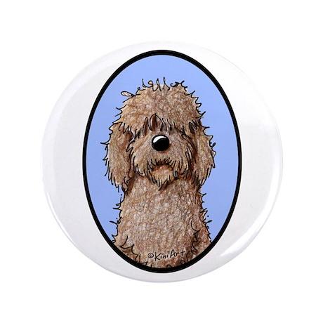 """Chocolate Doodle Portrait 3.5"""" Button"""