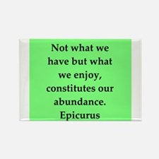 Wisdon of Epicurus Rectangle Magnet