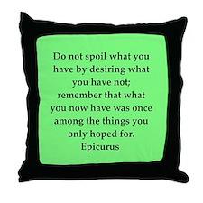 Wisdon of Epicurus Throw Pillow