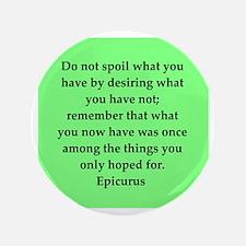 """Wisdon of Epicurus 3.5"""" Button"""