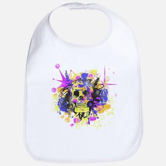 Grunge Skull Bib