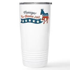 Manager for Obama Travel Mug