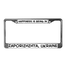 Happiness is Zaporizhzhya License Plate Frame