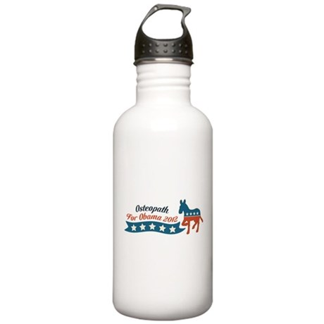 Osteopath for Obama Stainless Water Bottle 1.0L