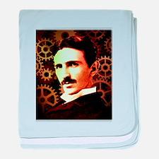 Nikola Tesla baby blanket