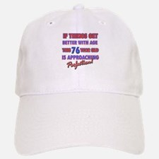 Funny 76th Birthdy designs Baseball Baseball Cap