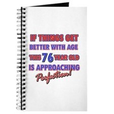Funny 76th Birthdy designs Journal