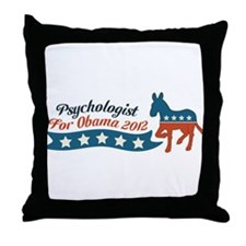 Psychologist for Obama Throw Pillow
