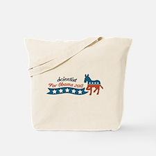 Scientist for Obama Tote Bag