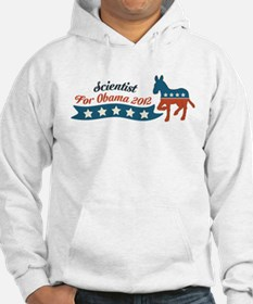 Scientist for Obama Hoodie