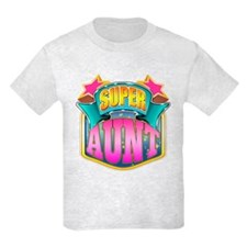 Pink Super Aunt T-Shirt