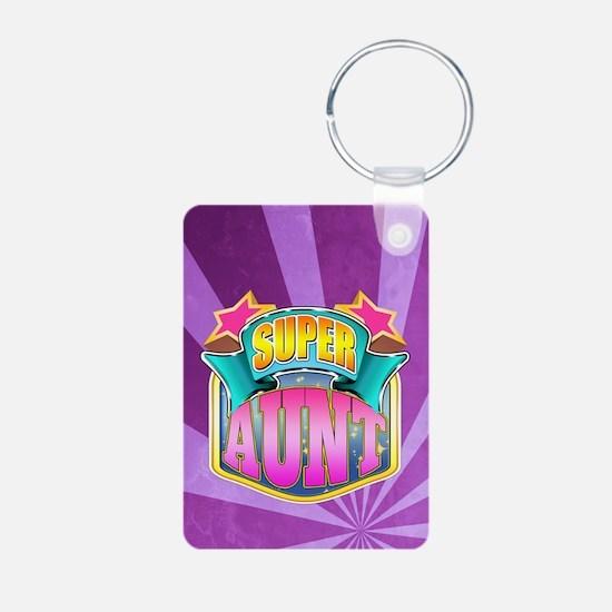 Pink Super Aunt Keychains