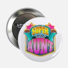 "Pink Super Aunt 2.25"" Button"