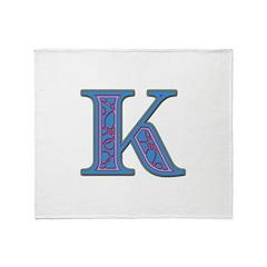 K Blue Glass Throw Blanket