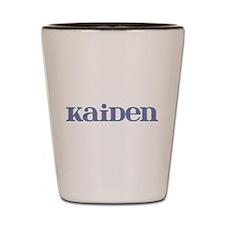 Kaiden Blue Glass Shot Glass